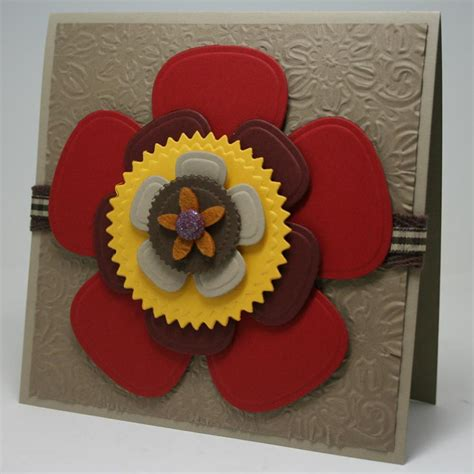 Craft Paper And Card - simple flowers greeting card favecrafts
