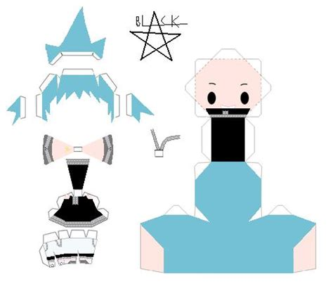 Soul Eater Papercraft - black template by animegang on deviantart