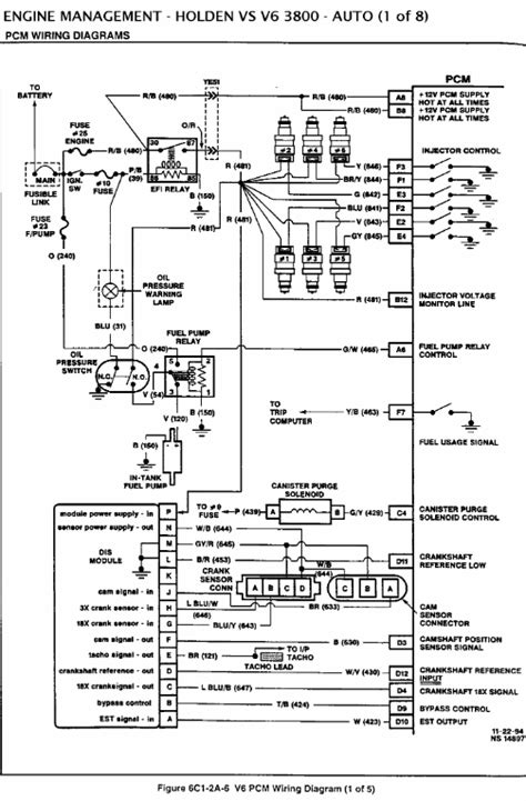 vy commodore engine wiring diagram wiring diagram