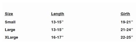 pug clothing line sizing chart for the pug and boston terrier clothing line