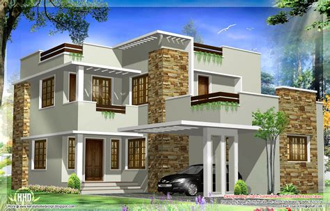 general square modern house elevation kerala home