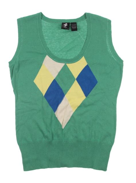 007 Sweater Green new s 4 all by jofit golf sweater vest green yellow