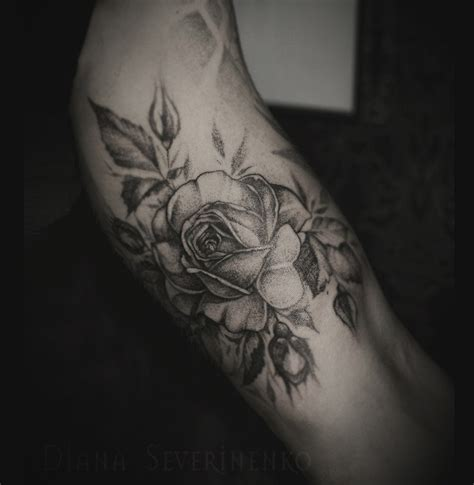 tattoo tats dotwork flower rose ukrtats