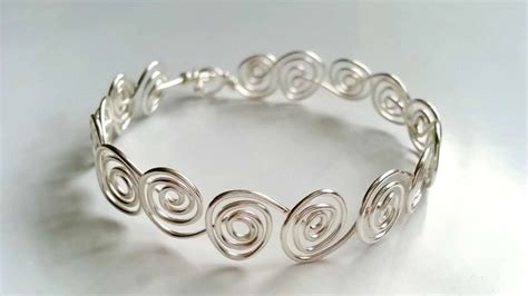 how to make a bracelet with and wire how to create swirly wire bracelets diy crafts tutorial
