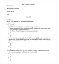 Sample mla outline template 10 free documents in pdf word