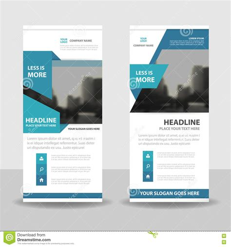 design x banner online blue roll up business brochure flyer banner design cover
