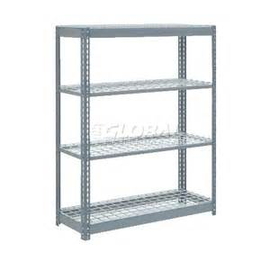 48 wire shelving heavy duty shelving 48 quot w x 18 quot d x 72 quot h with 4 shelves wire