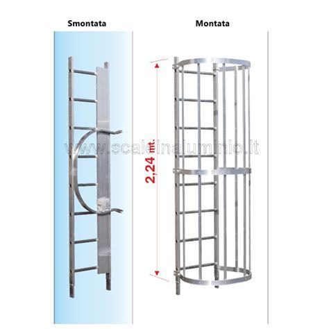 scala con gabbia scala con gabbia di protezione modulo intermedio s2