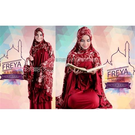 Mukena Jersey Original murah n ori collection freya by cynarra model mukena