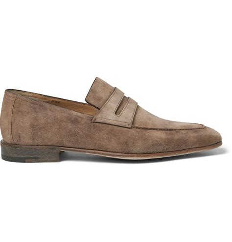 berluti loafers berluti andy suede loafers in brown for lyst
