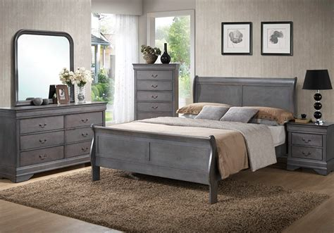 bedroom ls sets caroline grey sleigh queen bedroom set louisville