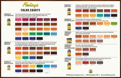 american spirit color chart color charts dyes stains antiques shop for leather