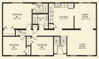 3 bedroom 2 bathroom house plans ranch homes floor plans