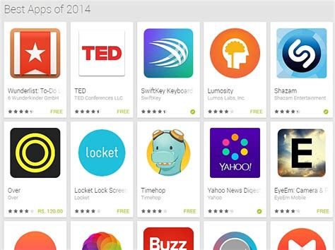 best app unveils best apps of 2014 section on play store
