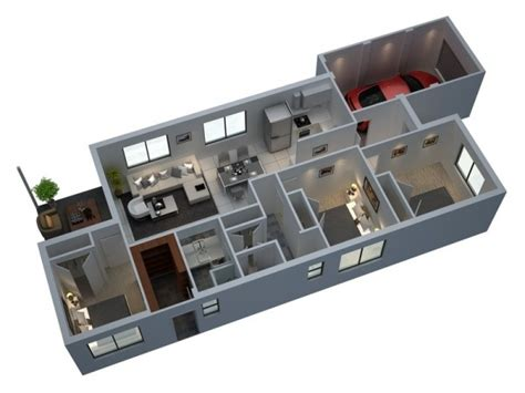 House Design Ideas Floor Plans 3d 3 Bedroom Apartment House Plans
