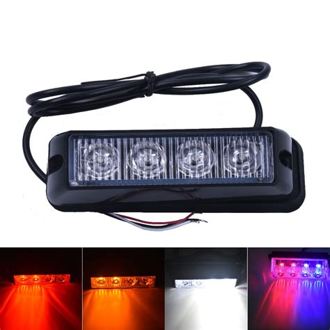blue led emergency lights 18ed car strobe lights 6x3led flash warning light police