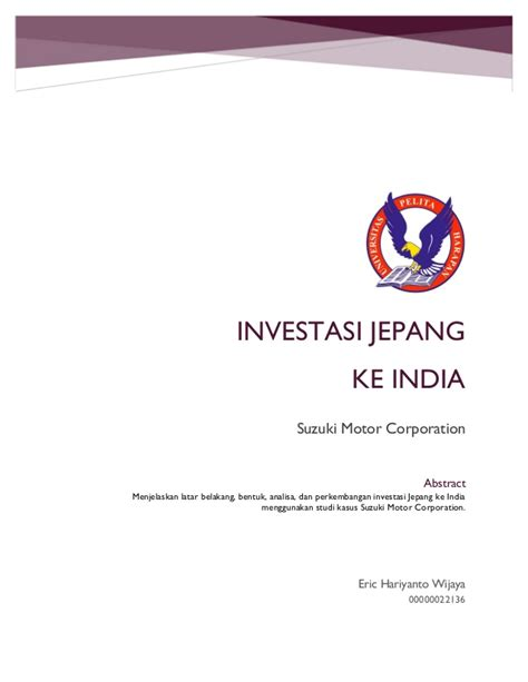 suzuki motor corporation india investasi jepang ke india suzuki motor corporation