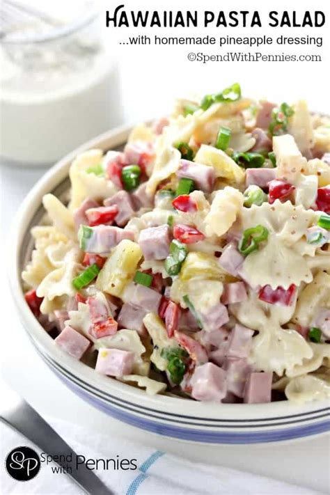 cold salad recipes hawaiian pasta salad spend with pennies