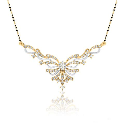 latest pattern of gold mangalsutra latest mangalsutra designs in diamond 1 00 ct yellow gold