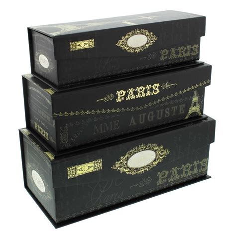 Decorative Boxes For by Pretty Storage Boxes Set Of 3 Tri Coastal Nights