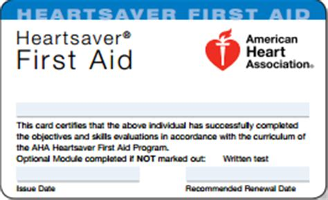 heartsaver aid cpr aed card template features 187 cp r us