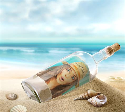 put your photo as a message in a bottle online