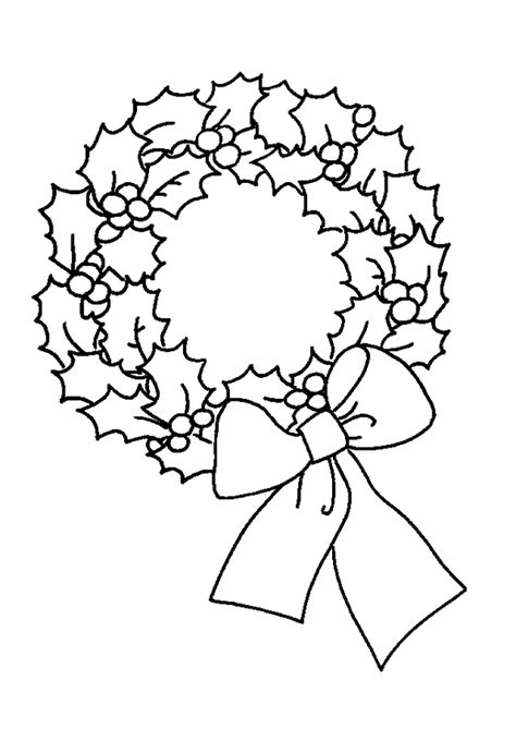 coloriage couronne noel noeud sur hugolescargot hugolescargot