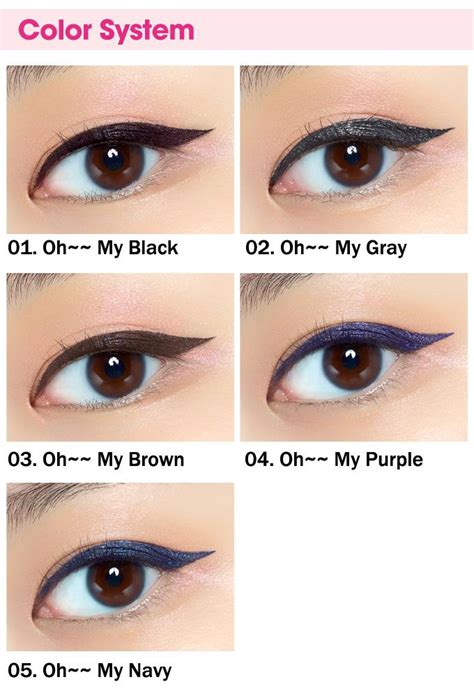 Etude Oh My Eyeliner etude house oh my eye line liquid eyeliner 5colors