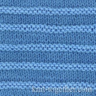 purl stitch knitting knit together purl stripes with needles and knitting