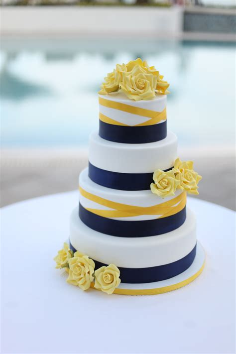 blue and yellow wedding cupcakes wedding cake cakage