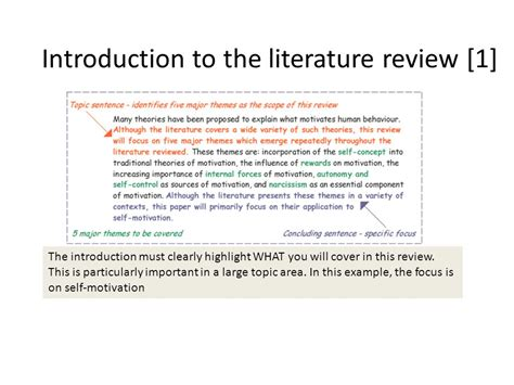 themes within a literature review literature review 1