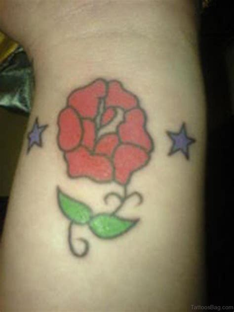 rose and star tattoo 52 wrist colorful designs