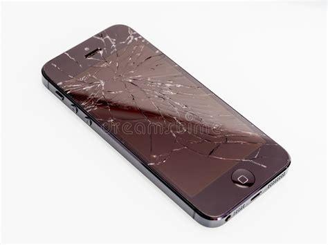 broken iphone editorial stock image image  broken