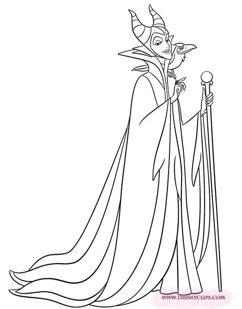 Sleeping Beauty Printable Coloring Pages 2 Disney Maleficent Coloring Pages