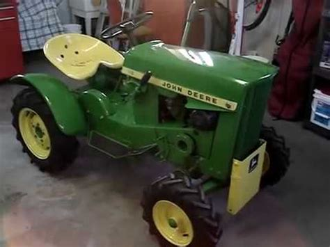 vintage john deere 110 lawn & garden tractor 1966 youtube