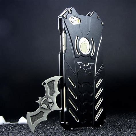 Casing Original Brand Batman Metal Bumper For Iphone 6 r just batman shockproof aluminum shell metal with custom stent for iphone 7 plus samsung
