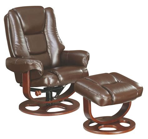 Glider Recliner Ottoman Brown Glider Recliner With Ottoman 600086 Coaster Furniture