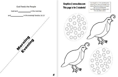 moses quail coloring page bible fun for kids moses manna quail to eat