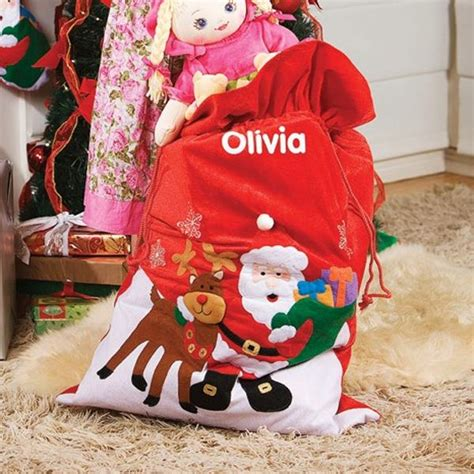 personalised santa and reindeer giant sack the gift