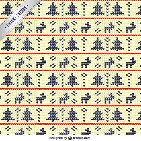 Vorlagen Geometrische Muster Geometrische Muster Weihnachten In Kreuzstich Stil Der Kostenlosen Vektor