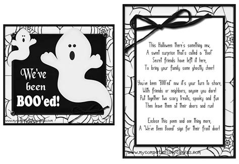 printable you ve been booed poem it s written on the wall 16 versions you ve been booed