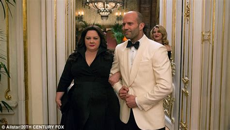 spy film quotes jason statham melissa mccarthy on working with jason statham in spy and