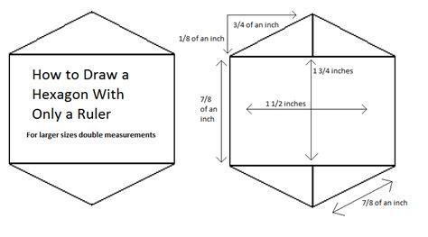 draw with measurements how to draw hexagon