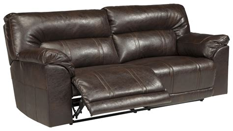 faux leather recliner sofa faux leather 2 seat reclining sofa by benchcraft wolf