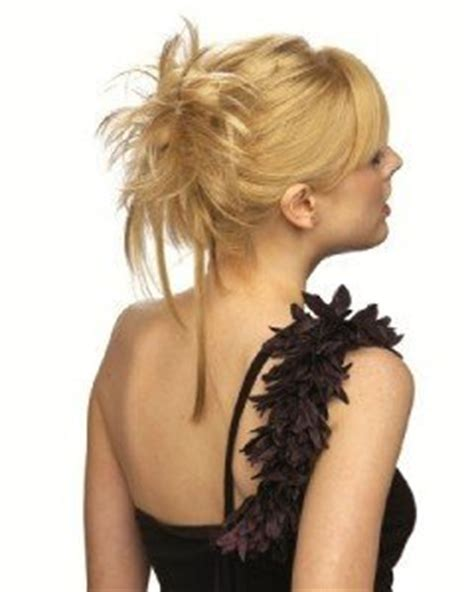 vanessa marley hair grey hair extension scrunchie honey blonde up do down do spiky