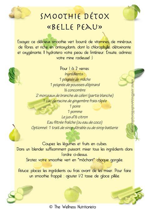 Recette Detox by Recette De Smoothie Vert D 233 Tox Pourune Peau