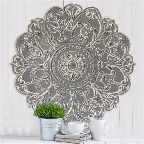 home decor metal wall art stratton home decor grey metal medallion wall decor s07730