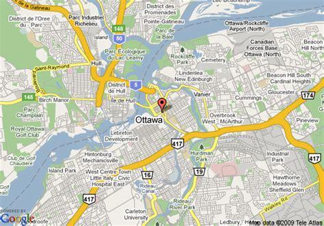 ottawa ontario canada map map of novotel ottawa ottawa