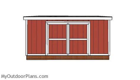 lean  shed doors plans myoutdoorplans