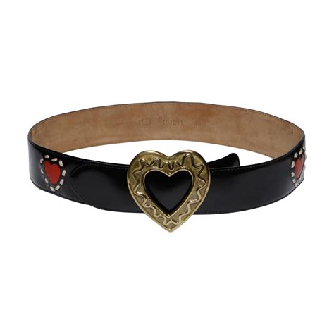 moschino by redwall vintage leather belt for sale at